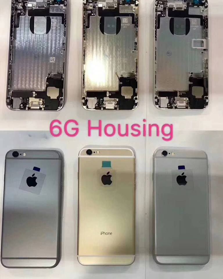 iphone 6s plus Battery Back Cover Housing Rear Frame With Spare Parts 150 Heshunyi